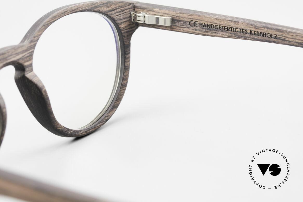 Kerbholz Friedrich Panto Holzbrille Kingwood, Größe: medium, Passend für Herren und Damen