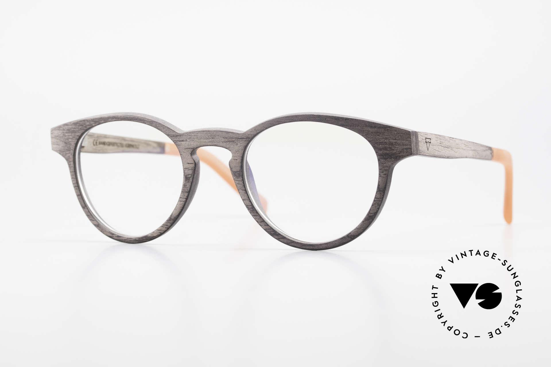 Kerbholz Friedrich Holzbrille Panto Blackwood, Echte Panto-Holzbrille von Kerbholz, made in Germany, Passend für Herren und Damen