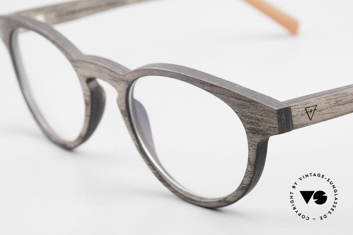 Kerbholz Friedrich Holzbrille Panto Blackwood, ein absolutes Unikat (zudem in Handarbeit gefertigt), Passend für Herren und Damen