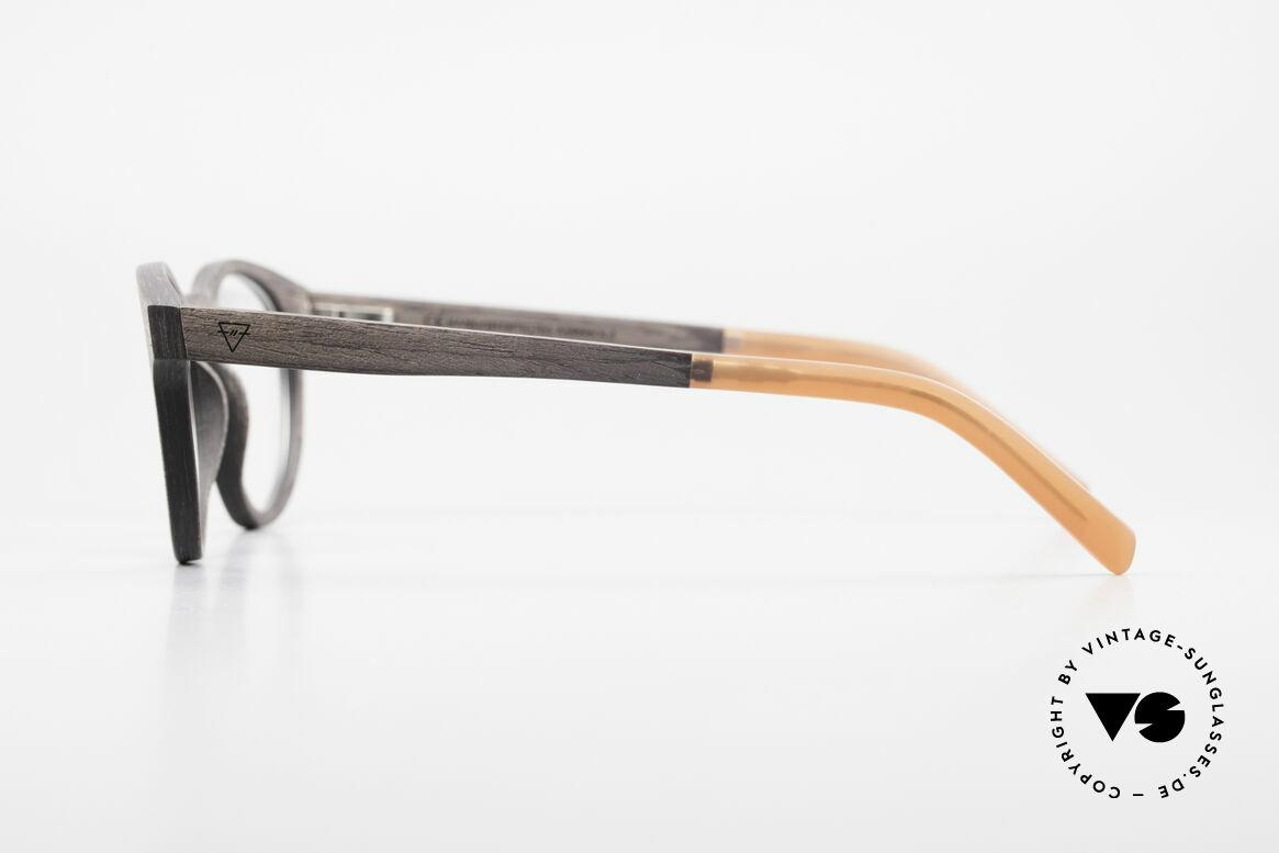 Kerbholz Friedrich Holzbrille Panto Blackwood, jedes Holz-Modell ist individuell (dank der Maserung), Passend für Herren und Damen