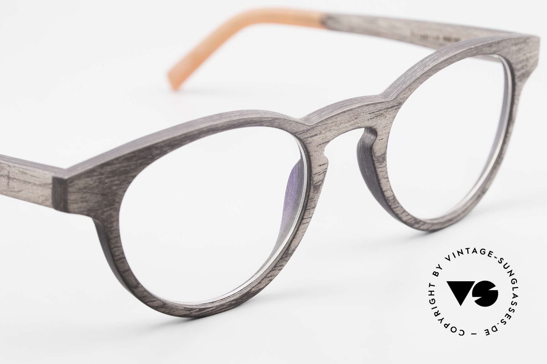 Kerbholz Friedrich Holzbrille Panto Blackwood, ungetragenes Exemplar, mit flexiblen Federscharnieren, Passend für Herren und Damen