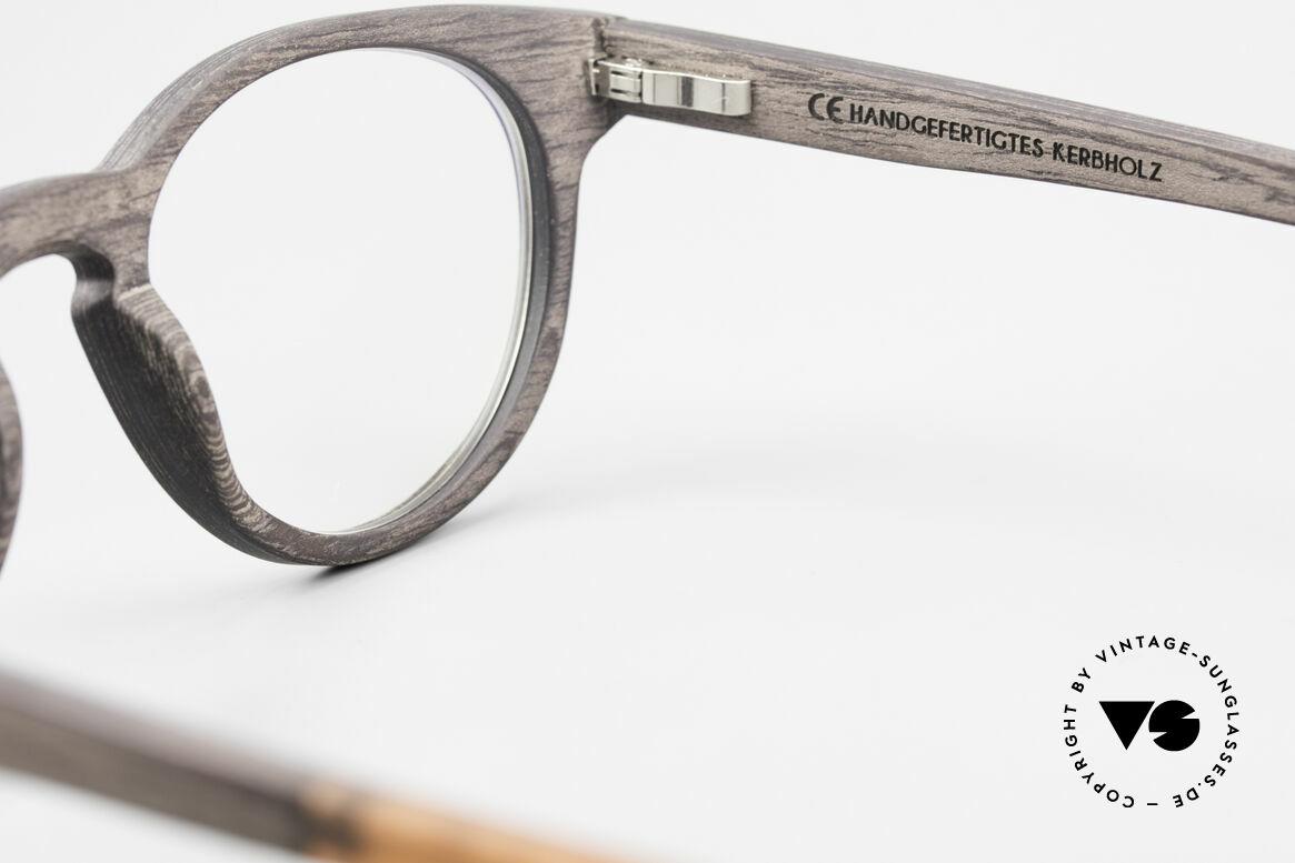 Kerbholz Friedrich Holzbrille Panto Blackwood, Größe: medium, Passend für Herren und Damen