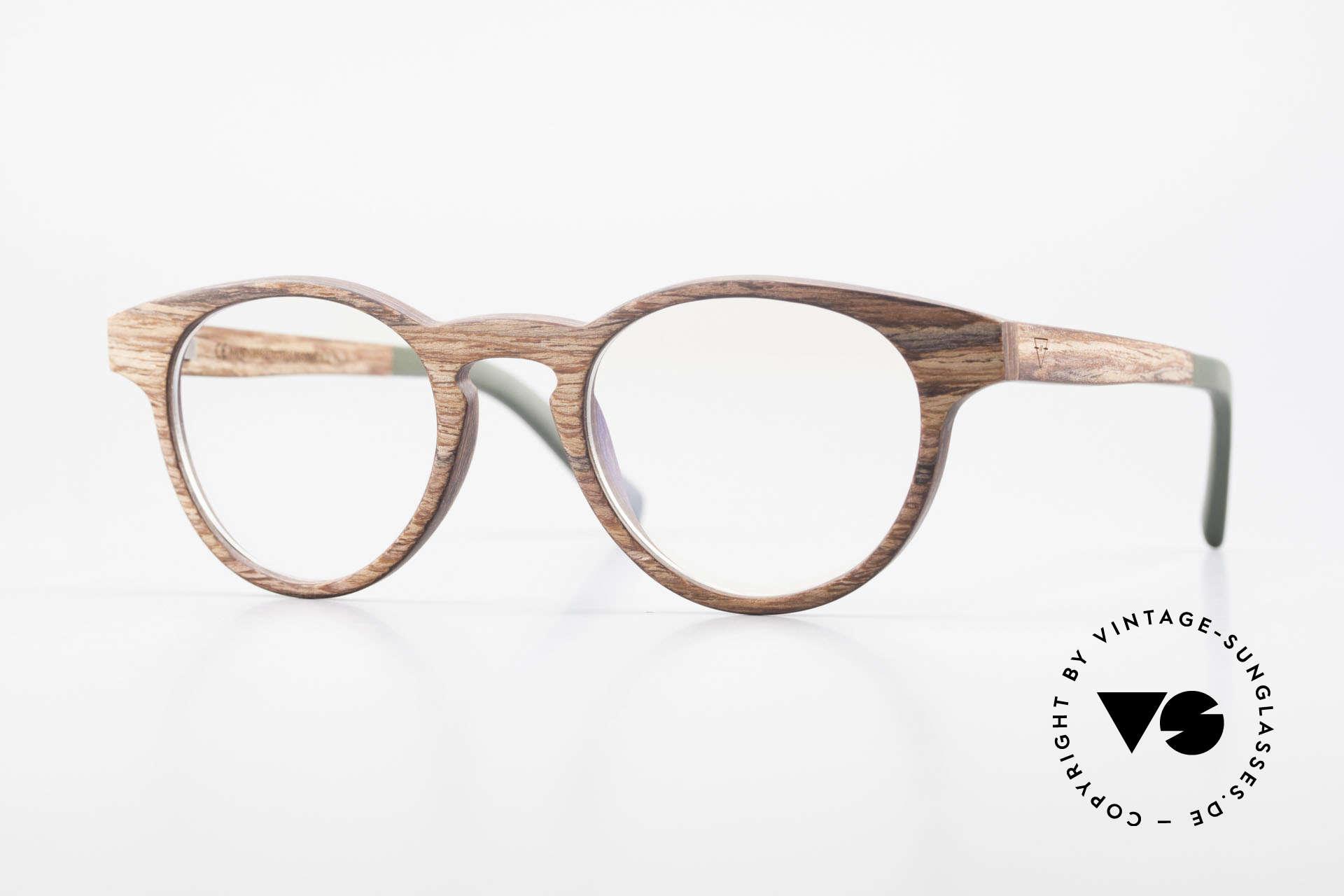 Kerbholz Friedrich Holzbrille Panto Rosewood, Echte Panto-Holzbrille von Kerbholz, made in Germany, Passend für Herren und Damen
