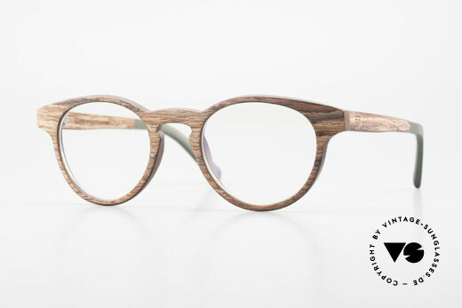 Kerbholz Friedrich Holzbrille Panto Rosewood Details