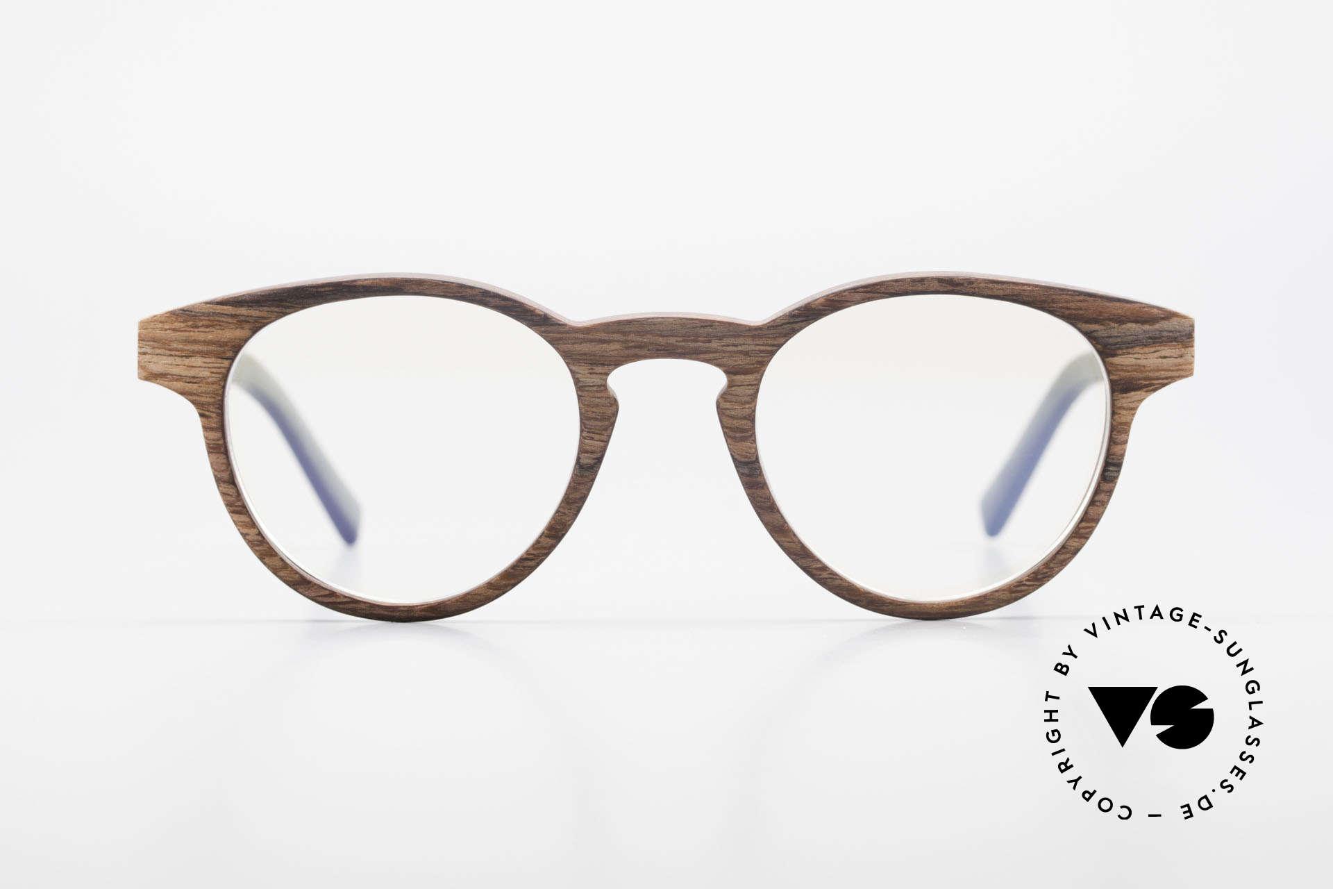 Kerbholz Friedrich Holzbrille Panto Rosewood, aus Rosewood: Palisander (aus Mosambik und Tansania), Passend für Herren und Damen