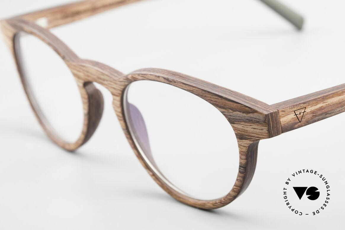 Kerbholz Friedrich Holzbrille Panto Rosewood, ein absolutes Unikat (zudem in Handarbeit gefertigt), Passend für Herren und Damen