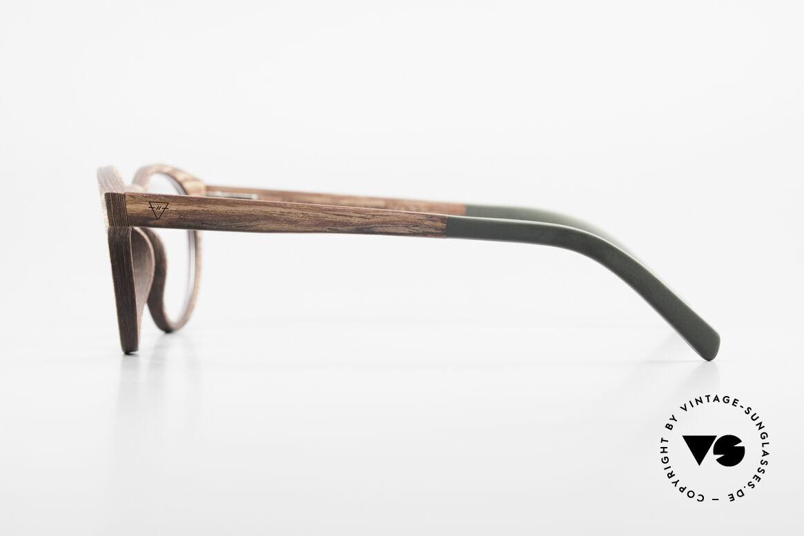 Kerbholz Friedrich Holzbrille Panto Rosewood, jedes Holz-Modell ist individuell (dank der Maserung), Passend für Herren und Damen