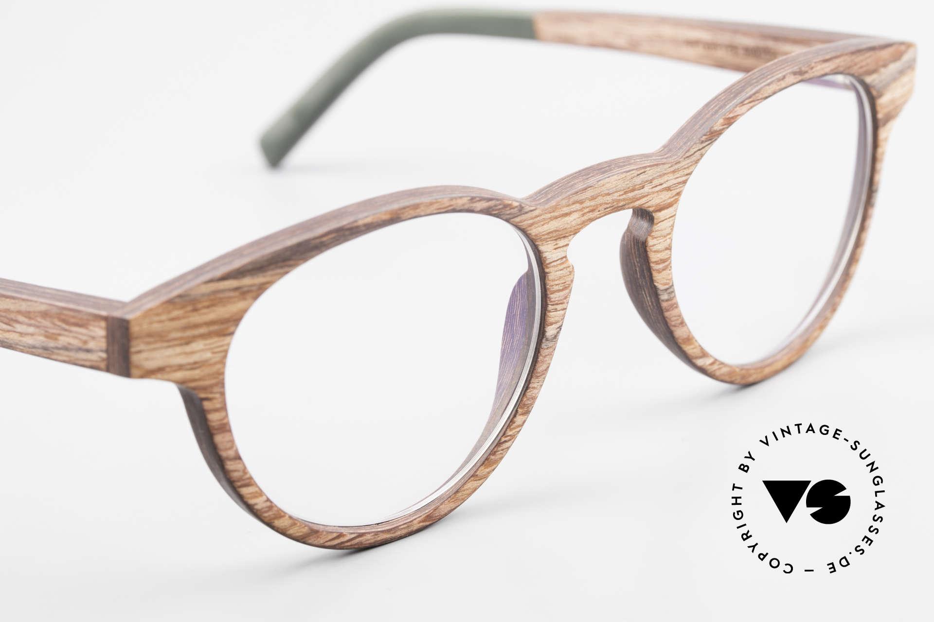 Kerbholz Friedrich Holzbrille Panto Rosewood, ungetragenes Exemplar, mit flexiblen Federscharnieren, Passend für Herren und Damen
