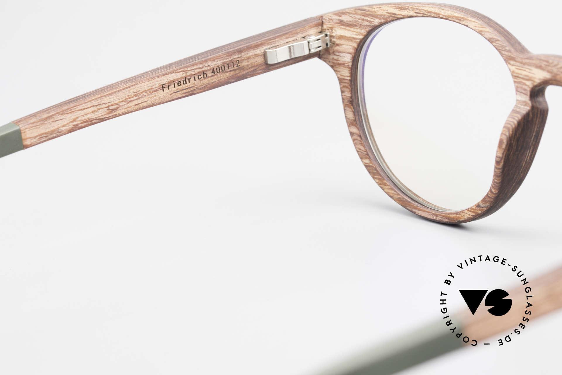 Kerbholz Friedrich Holzbrille Panto Rosewood, Größe: medium, Passend für Herren und Damen