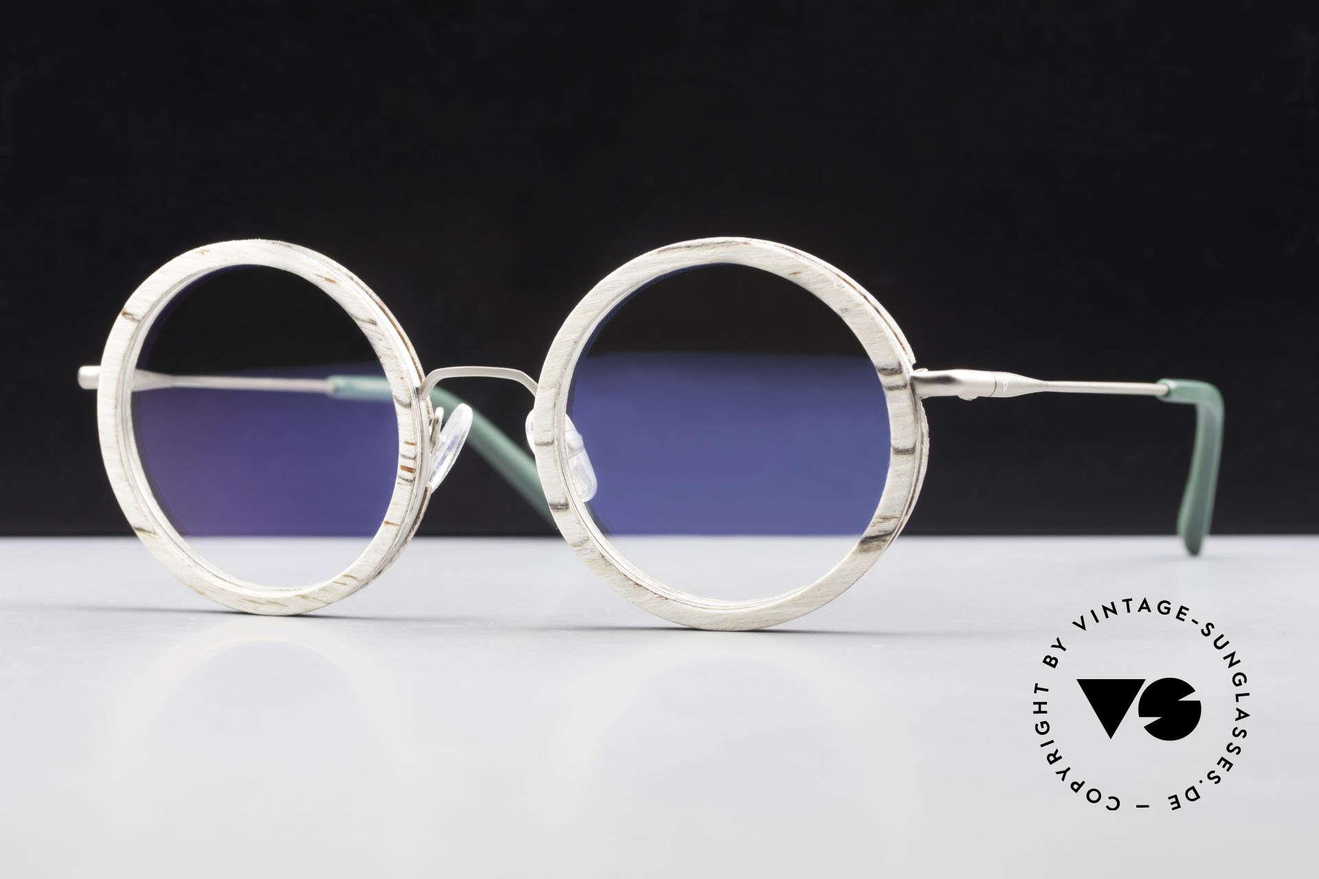 Kerbholz Rudolph Runde Holzbrille Weisse Birke, runde Echt-Holzbrille von Kerbholz, made in Germany, Passend für Herren und Damen