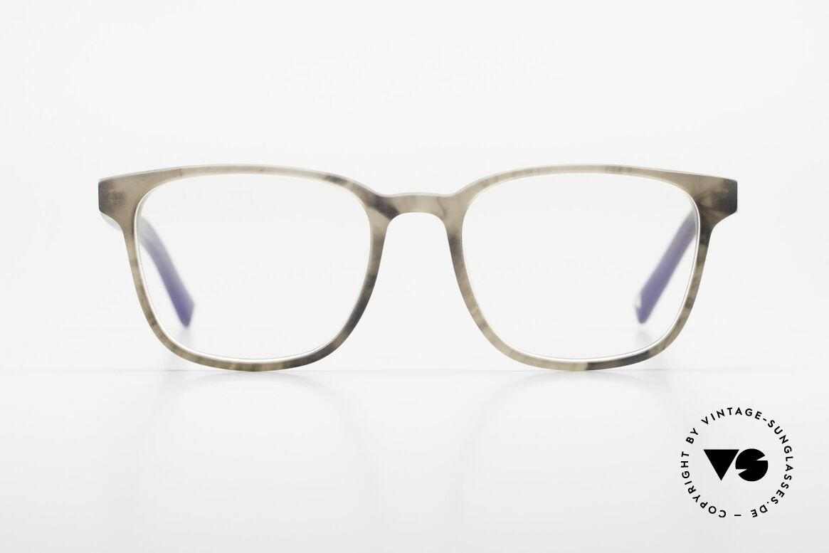 Kerbholz Ludwig Holzbrille Herren Blackwood, Brillenfront in smokey-grey mit Bügeln aus Blackwood, Passend für Herren