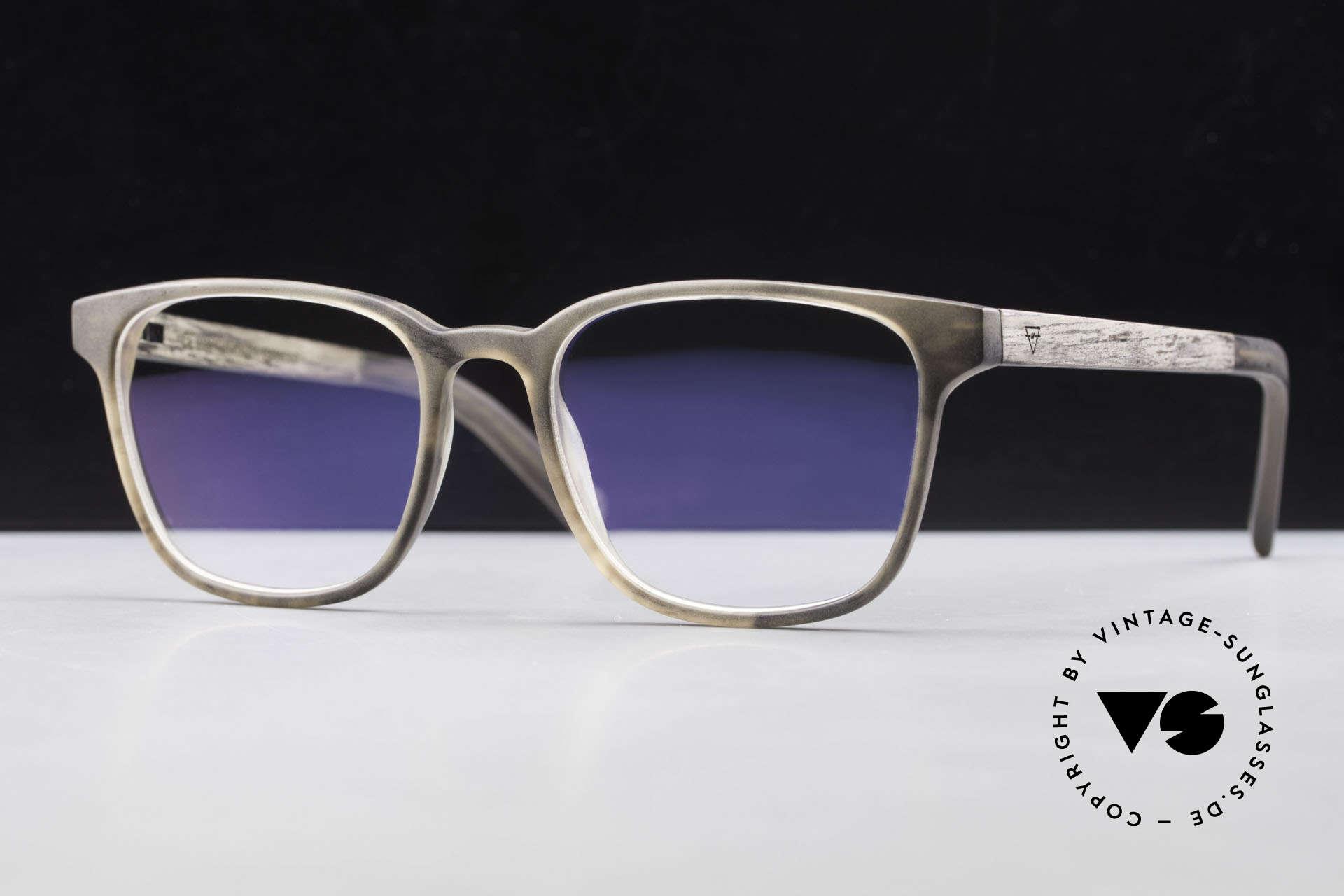 Kerbholz Ludwig Holzbrille Herren Blackwood, Grundfarbe variiert von braun zu schwarz/dunkel-braun, Passend für Herren