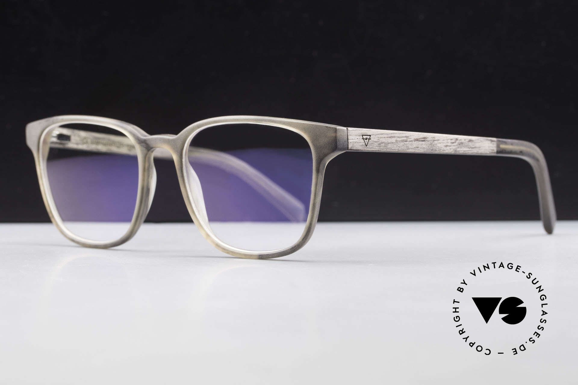Kerbholz Ludwig Holzbrille Herren Blackwood, jedes Holz-Modell ist individuell (dank der Maserung), Passend für Herren