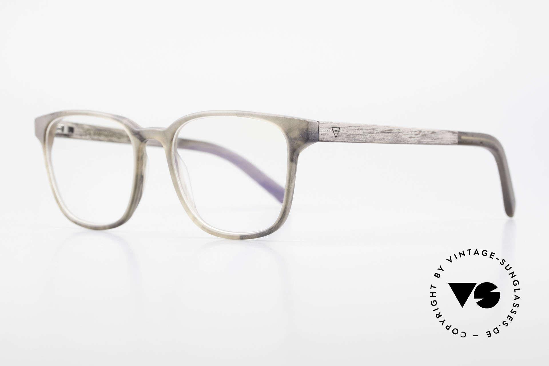 Kerbholz Ludwig Holzbrille Herren Blackwood, ungetragenes Exemplar, mit flexiblen Federscharnieren, Passend für Herren