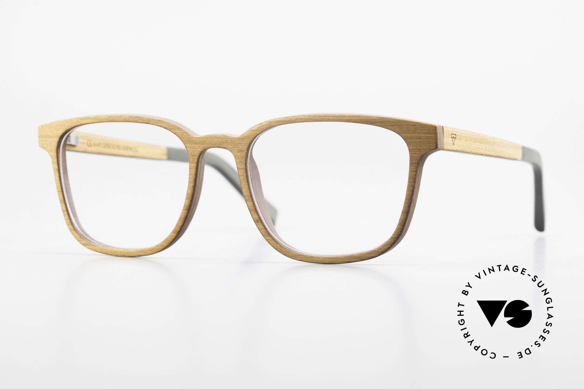 Kerbholz Ludwig Holzbrille Herren Erlenholz, Echtholz-Herrenbrille von Kerbholz, made in Germany, Passend für Herren