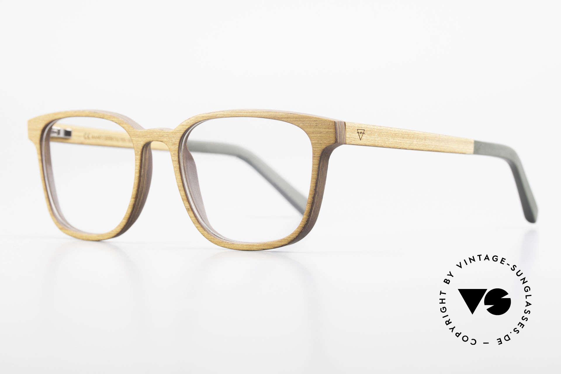 Kerbholz Ludwig Holzbrille Herren Erlenholz, ist rötlichgelb bis hell rötlichbraun, dunkelt aber nach, Passend für Herren