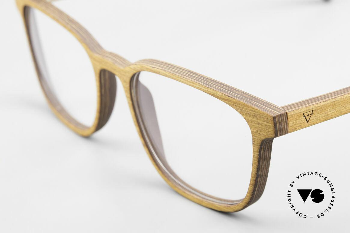 Kerbholz Ludwig Holzbrille Herren Erlenholz, ein absolutes UNIKAT (zudem in Handarbeit gefertigt), Passend für Herren