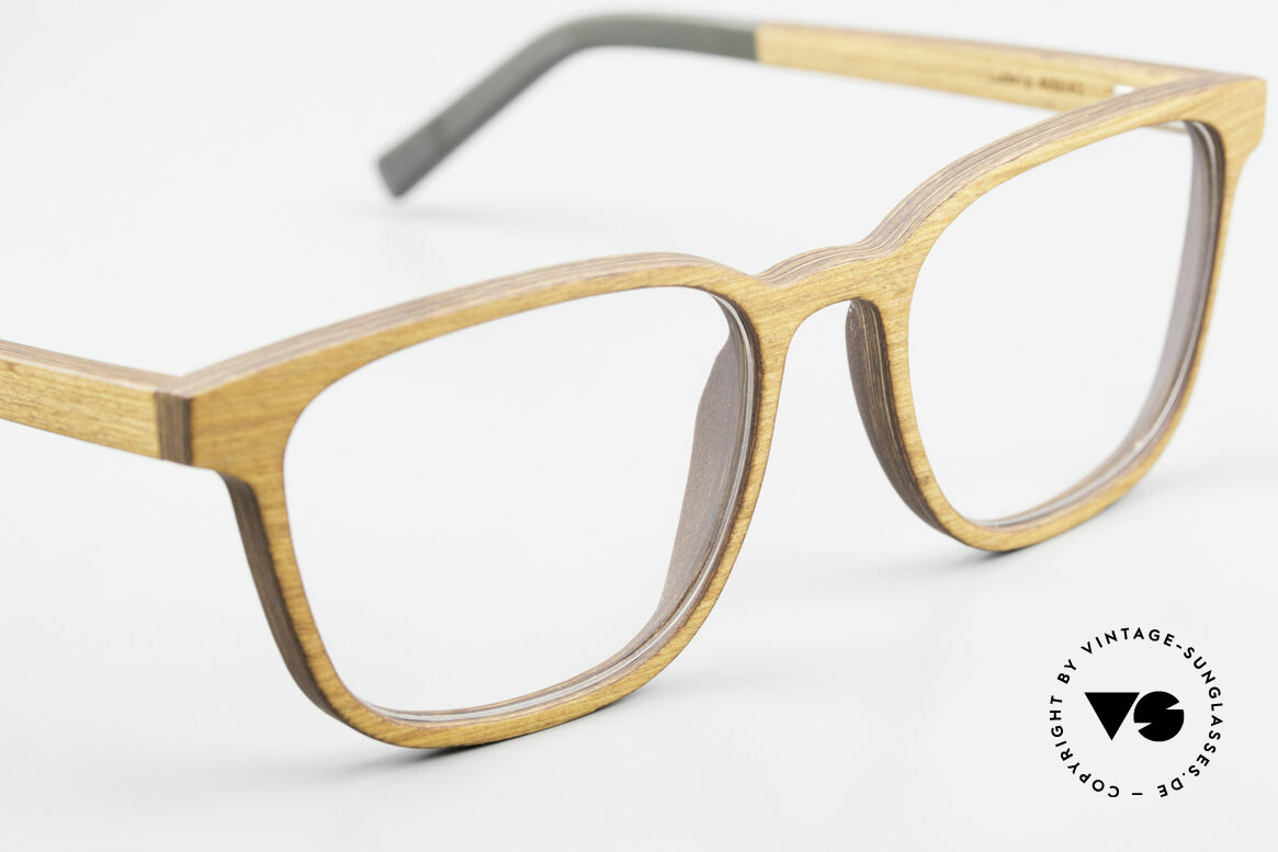 Kerbholz Ludwig Holzbrille Herren Erlenholz, jedes Holz-Modell ist individuell (dank der Maserung), Passend für Herren