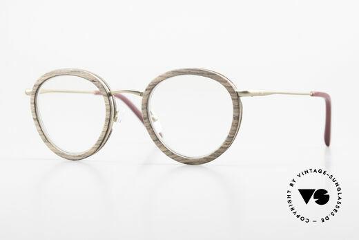 Kerbholz Otto Runde Panto Holzbrille Teak Details