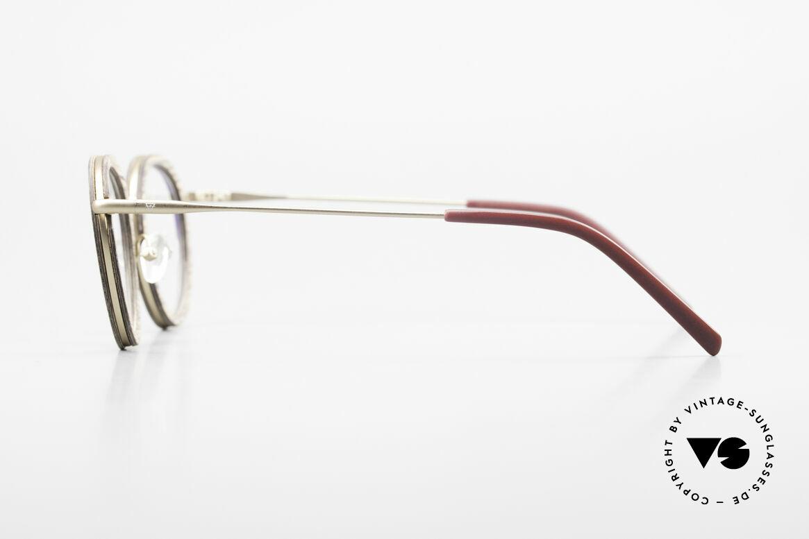 Kerbholz Otto Runde Panto Holzbrille Teak, ein absolutes UNIKAT (zudem in Handarbeit gefertigt), Passend für Herren und Damen