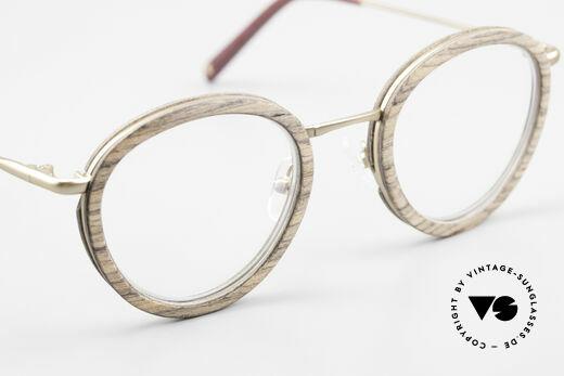 Kerbholz Otto Runde Panto Holzbrille Teak, ungetragenes Exemplar; kann beliebig verglast werden, Passend für Herren und Damen