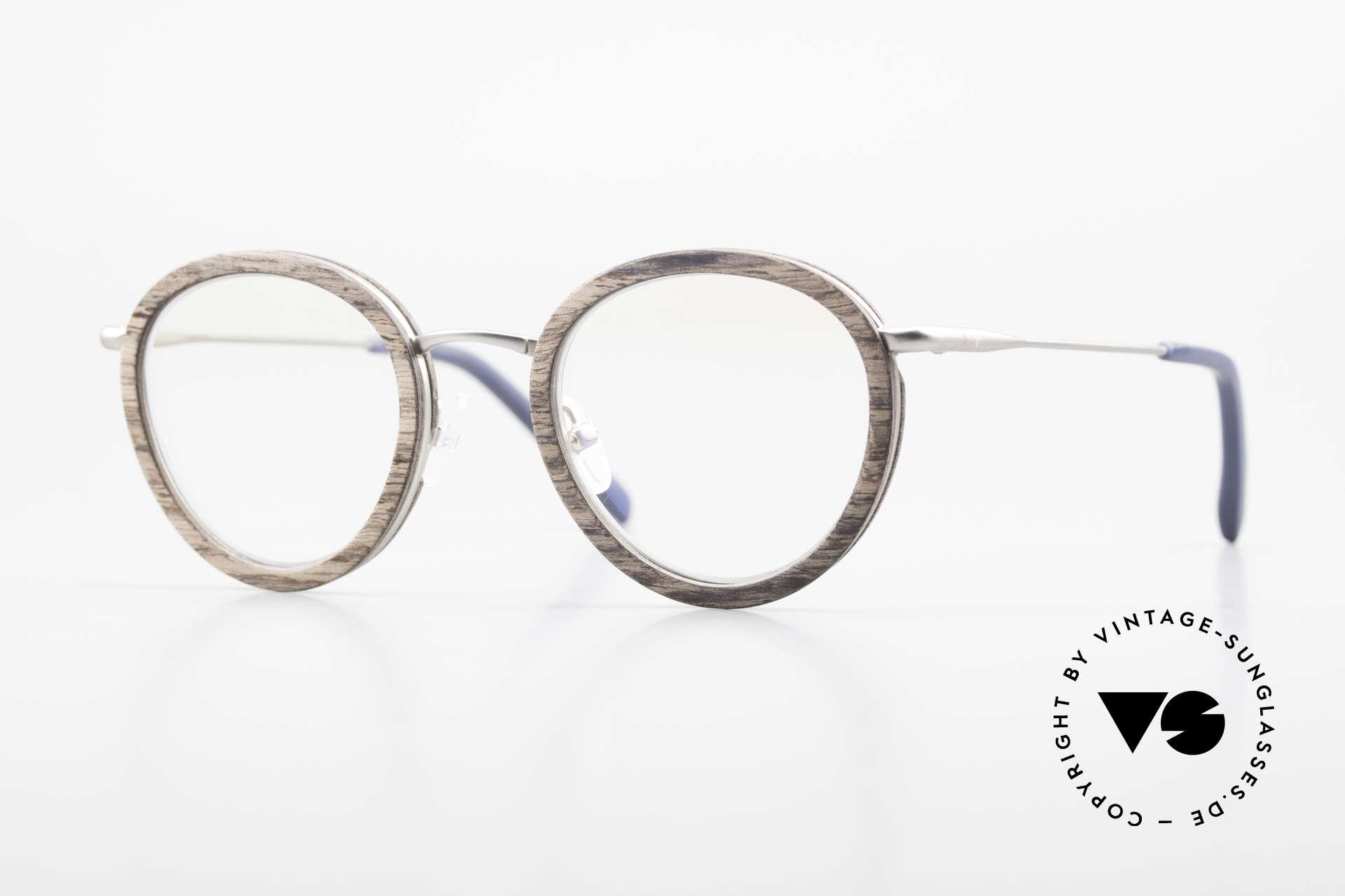 Kerbholz Otto Panto Holzbrille Rund Walnuss, runde Panto-Holzbrille von Kerbholz, made in Germany, Passend für Herren und Damen
