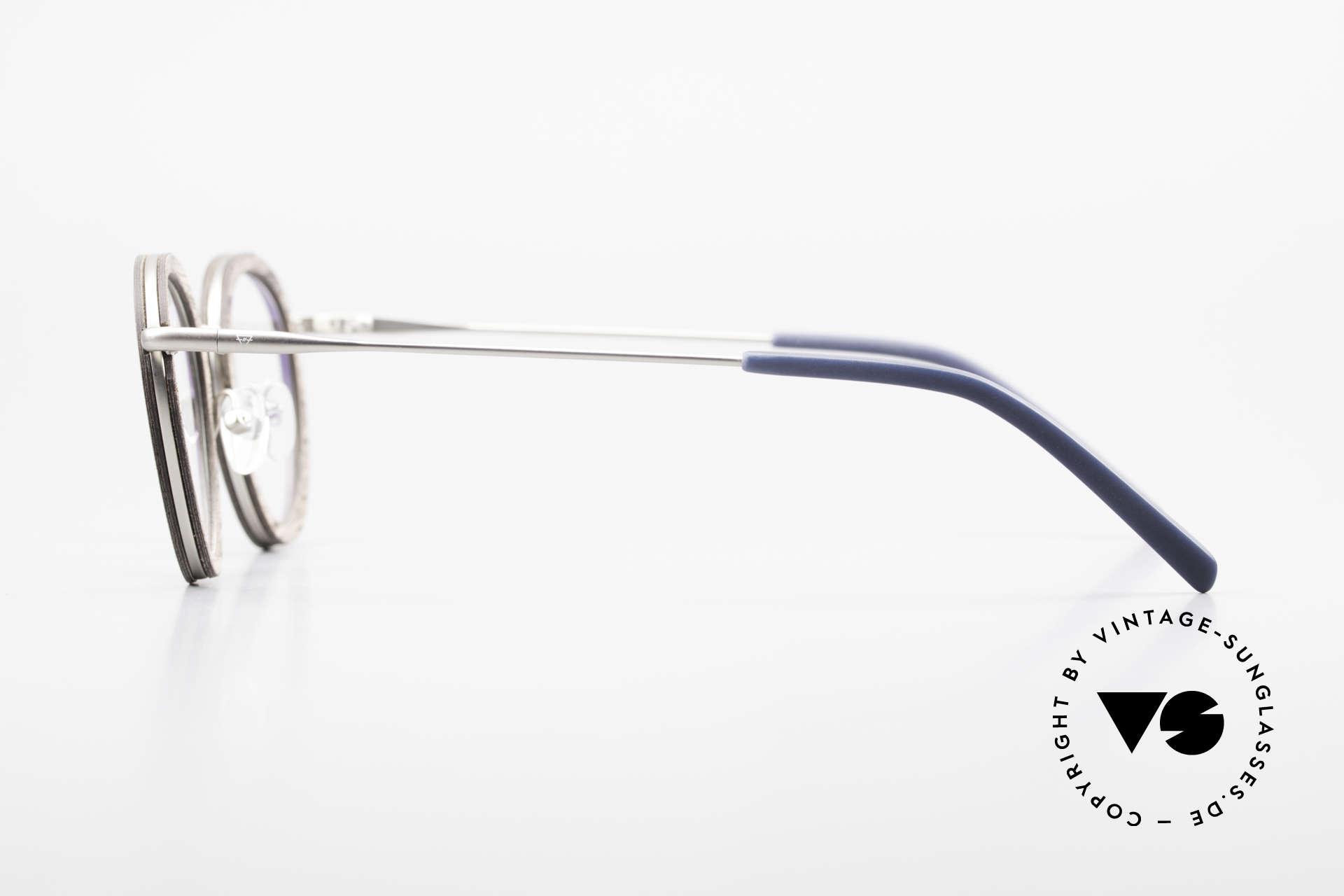 Kerbholz Otto Panto Holzbrille Rund Walnuss, jedes Holz-Modell ist individuell (dank der Maserung), Passend für Herren und Damen