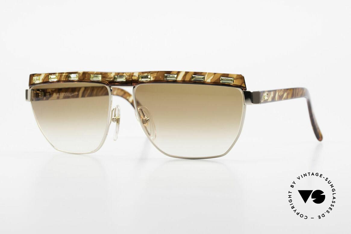 Paloma Picasso 3706 Damen Sonnenbrille Strass 90s, Damen Designersonnenbrille von Paloma Picasso, Passend für Damen