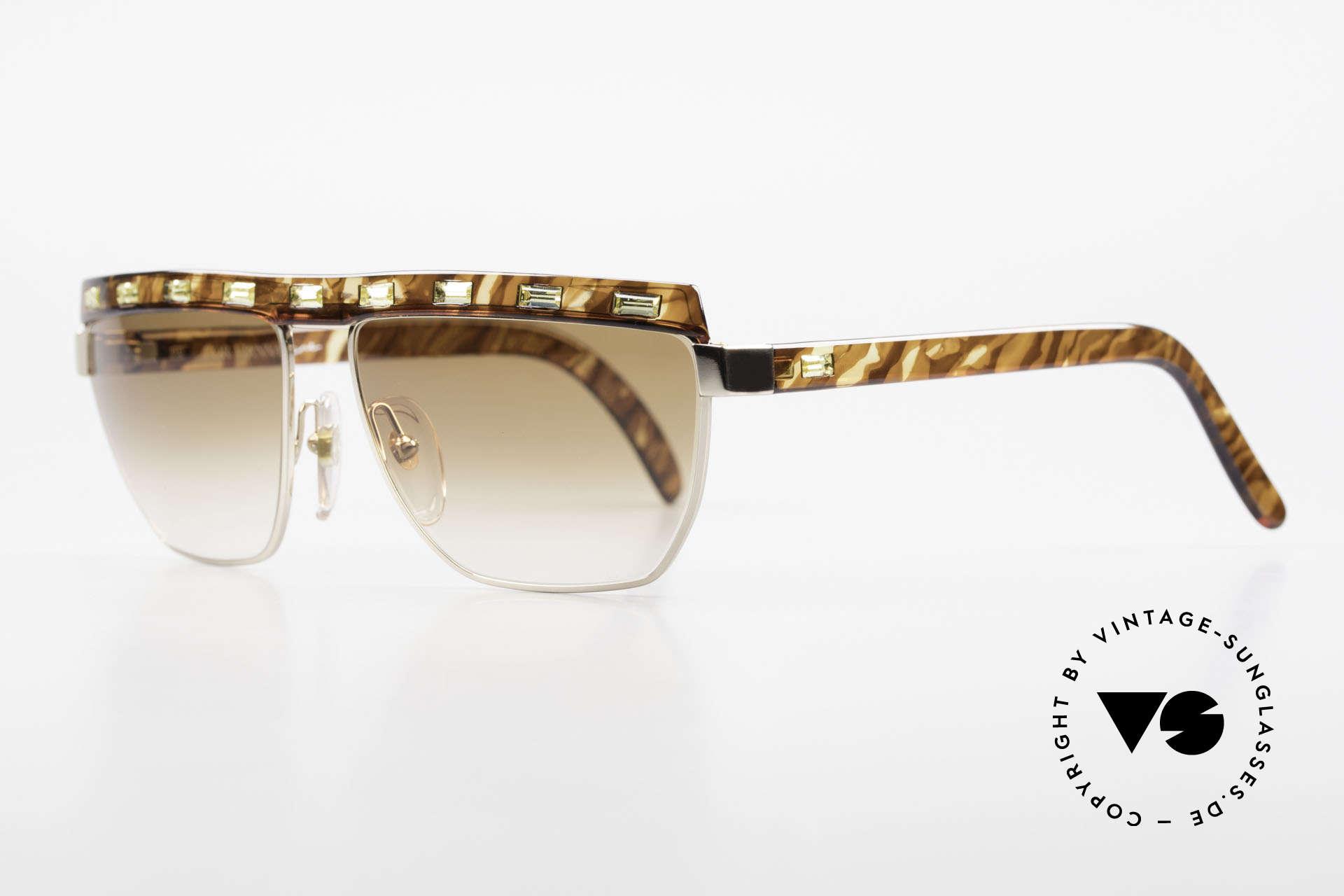 Paloma Picasso 3706 Damen Sonnenbrille Strass 90s, sie entwarf 1990 diese großartige Brillenkollektion, Passend für Damen