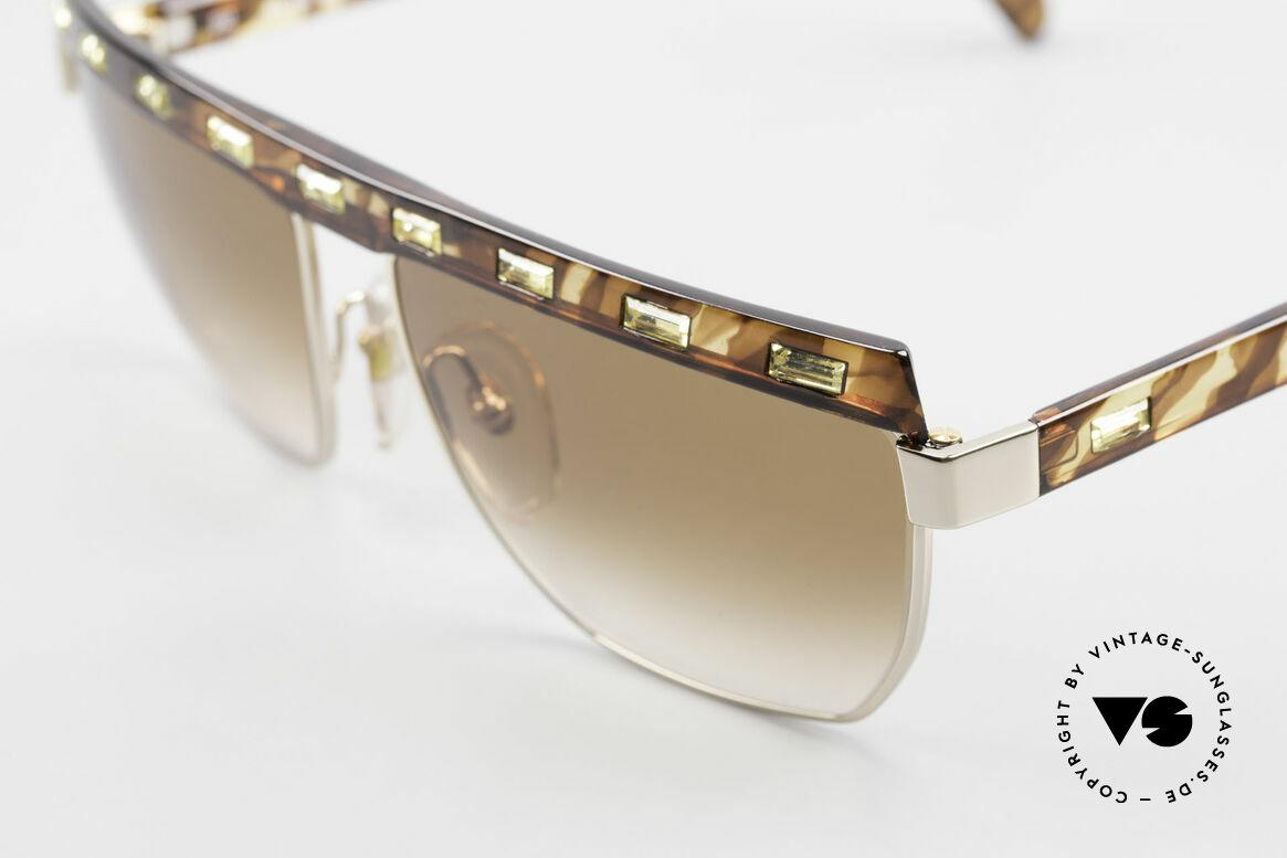 Paloma Picasso 3706 Damen Sonnenbrille Strass 90s, tolle Komposition von Strass (im Jonquil Farbton), Passend für Damen