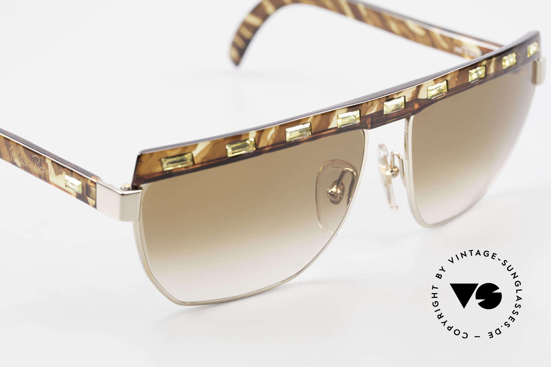 Paloma Picasso 3706 Damen Sonnenbrille Strass 90s, zudem ist das Brillen-Etui als Geldbörse nutzbar!, Passend für Damen