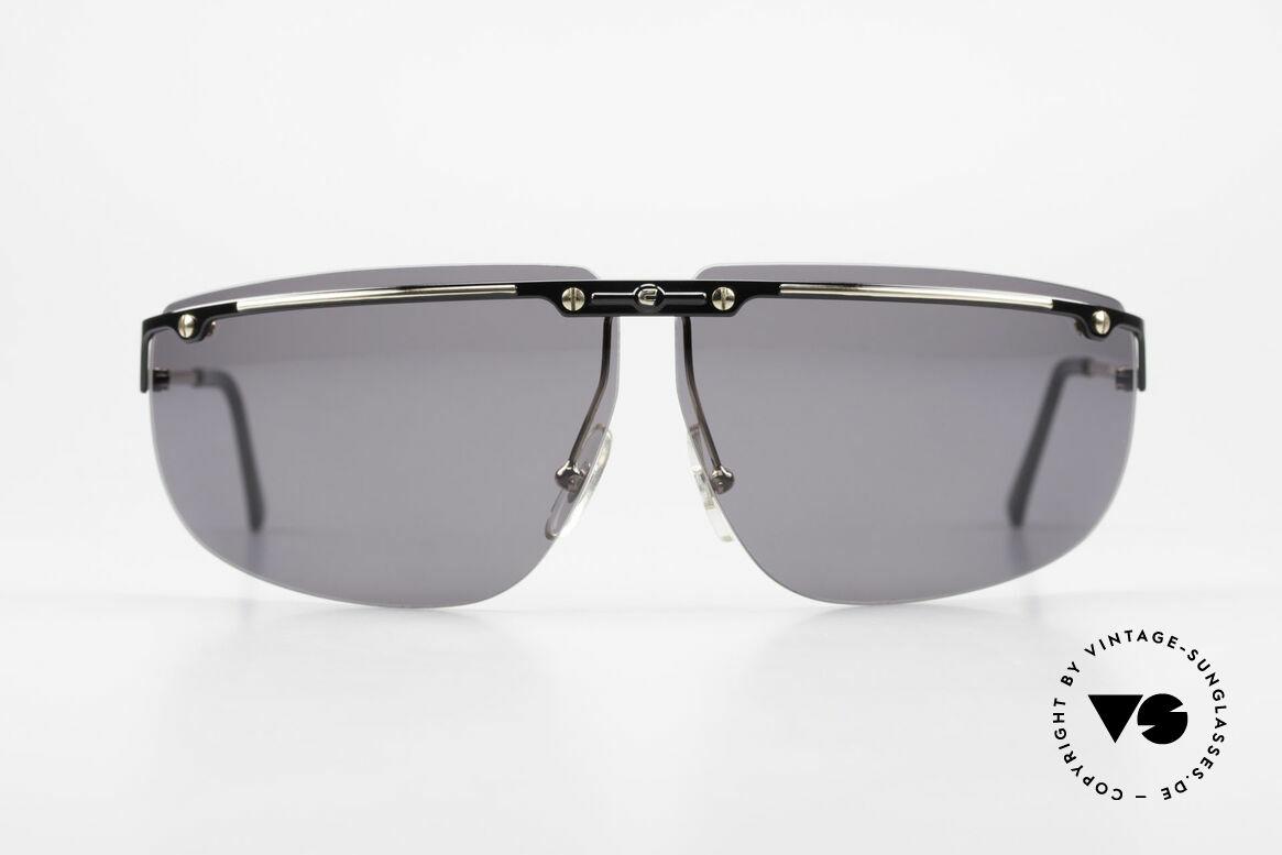 """Carrera 5420 90er Sportsonnenbrille Wrap, """"wrap around"""" = stark gebogene Fassung & Gläser, Passend für Herren"""