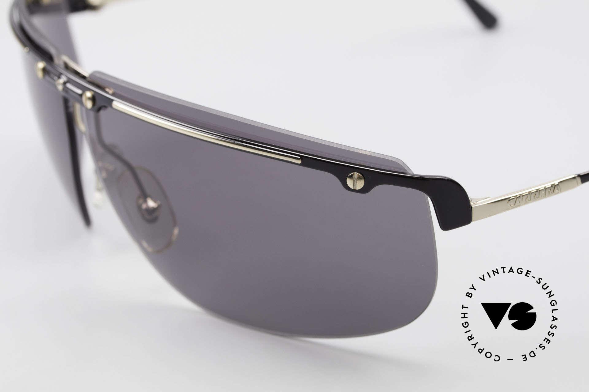 Carrera 5420 90er Sportsonnenbrille Wrap, 100% UV Protection & stilvolles Accessoire zugleich, Passend für Herren
