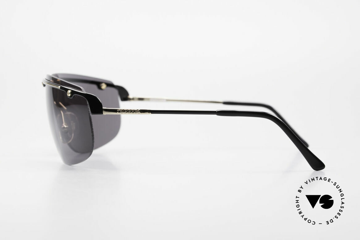 Carrera 5420 90er Sportsonnenbrille Wrap, ungetragen (wie alle unsere Carrera Sonnenbrillen), Passend für Herren