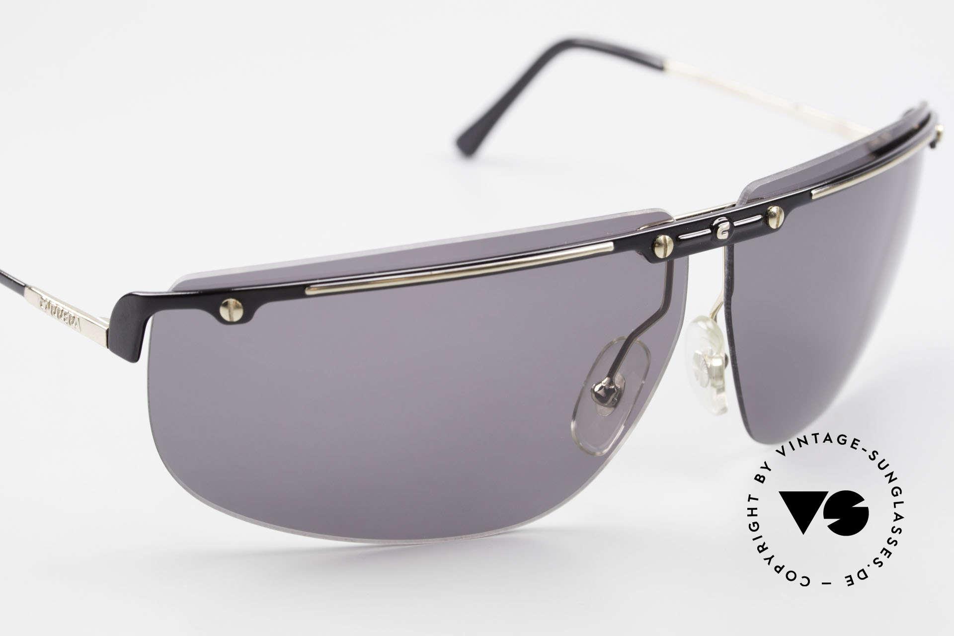 Carrera 5420 90er Sportsonnenbrille Wrap, KEINE RETRO Sonnenbrille; 30 Jahre altes Original!, Passend für Herren