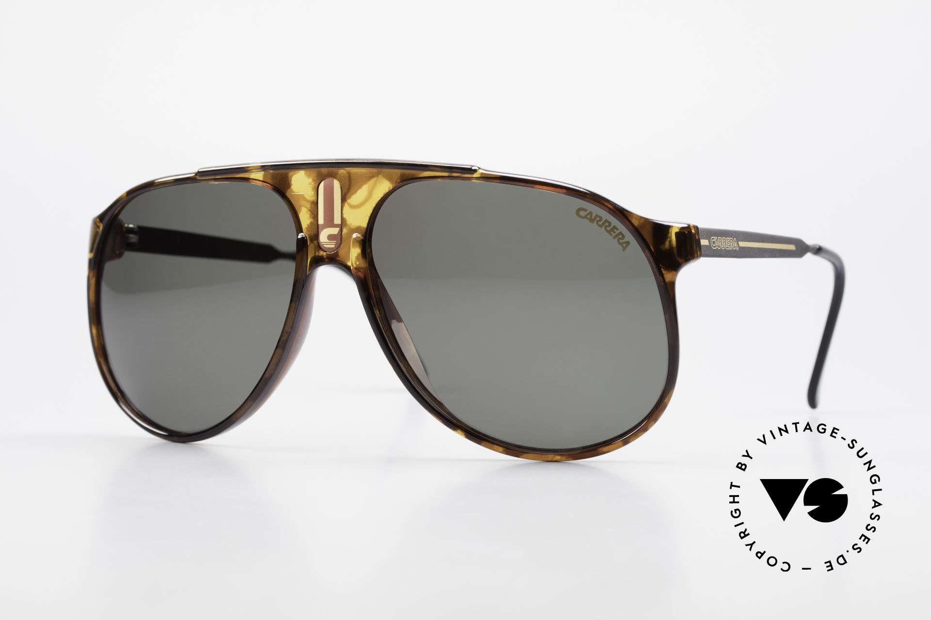 Carrera 5424 80er Aviator Sportsonnenbrille, alte 80er original Sportsonnenbrille von Carrera, Passend für Herren