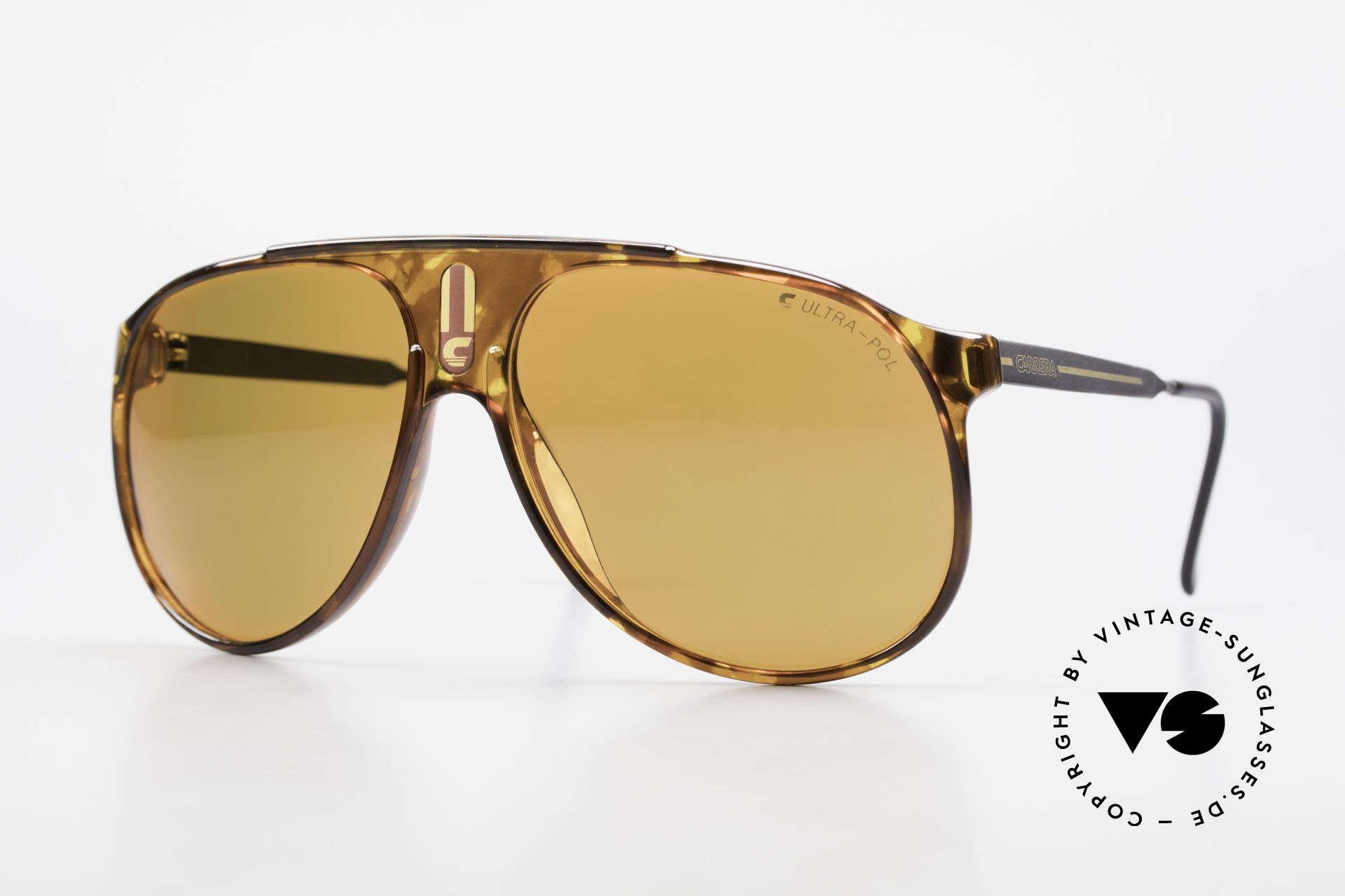 Carrera 5424 80s Sonnenbrille Polarisierend, alte 80er original Sportsonnenbrille von Carrera, Passend für Herren