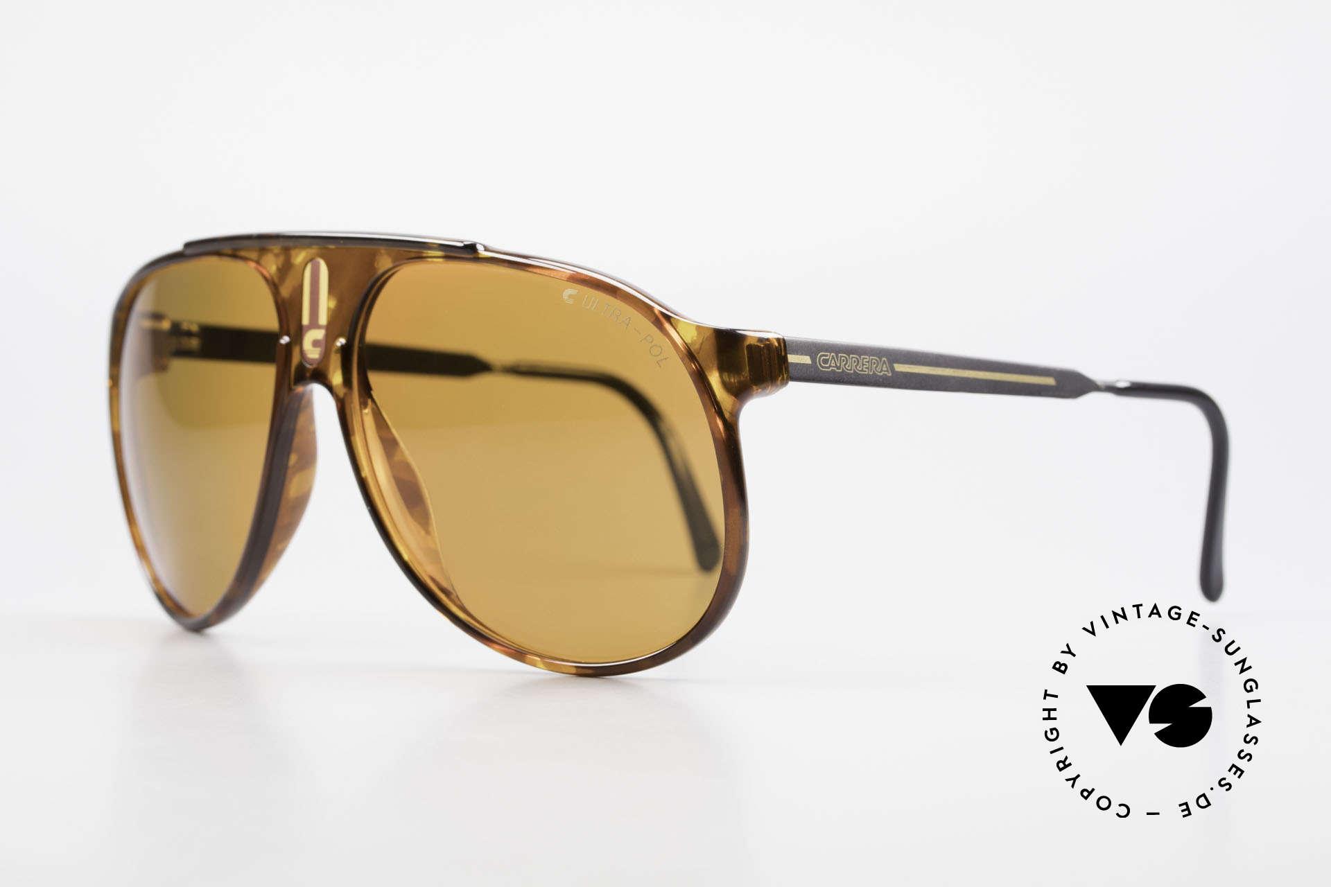 Carrera 5424 80s Sonnenbrille Polarisierend, Sport Performance im Pilotendesign, Top-Qualität, Passend für Herren