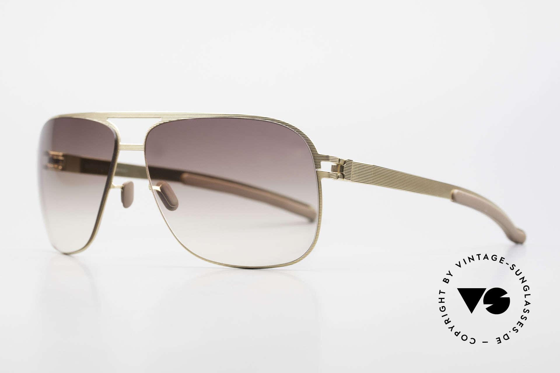 Mykita Luke Vintage Sonnenbrille von 2008, Mod. No.1 Sun Luke Goldline, brown-gradient, Gr. 63/13, Passend für Herren