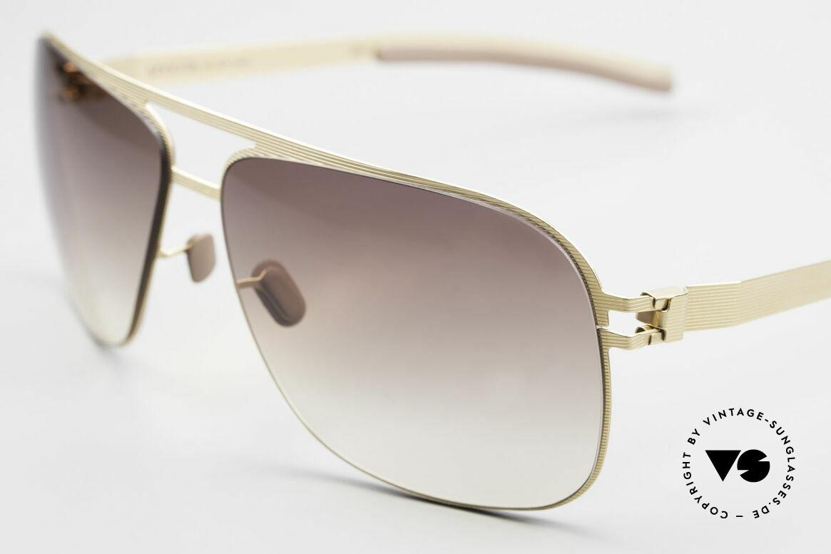 Mykita Luke Vintage Sonnenbrille von 2008, flexible Metallbrille; innovativ & elegant gleichermaßen, Passend für Herren