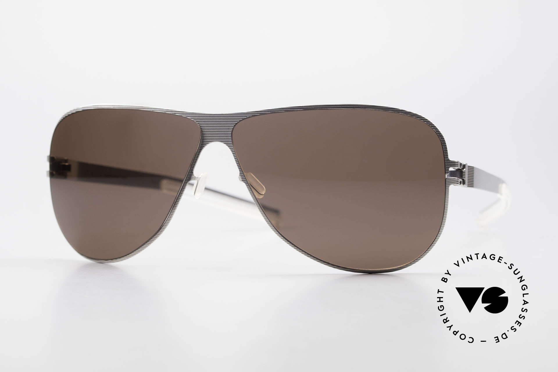 Mykita Ava Damen Aviator Brille Polarized, original VINTAGE Mykita Damen-Sonnenbrille von 2007, Passend für Damen