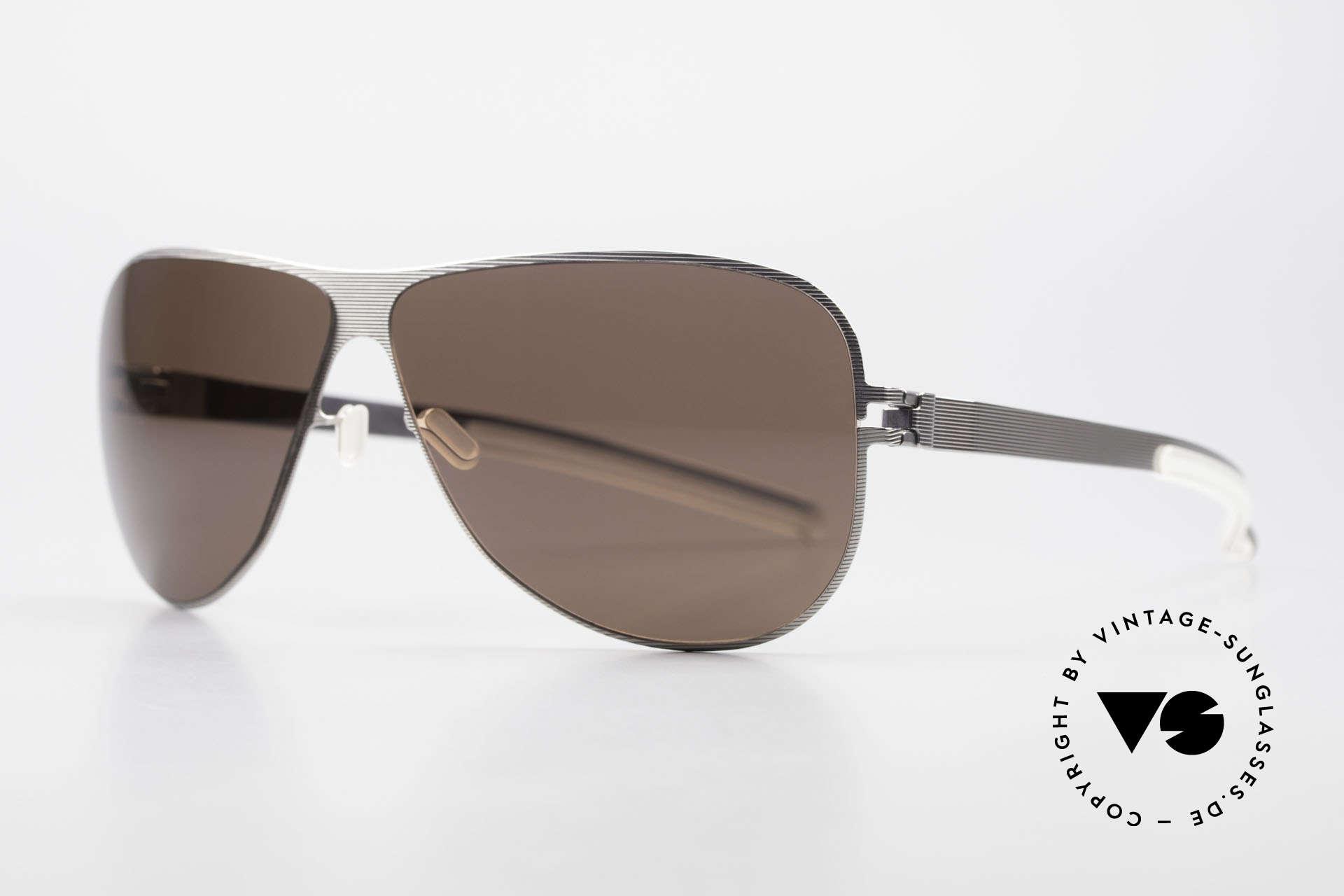 Mykita Ava Damen Aviator Brille Polarized, No.1 Sun Ava Silverline, POLARISIERENDE Gläser, 62/09, Passend für Damen