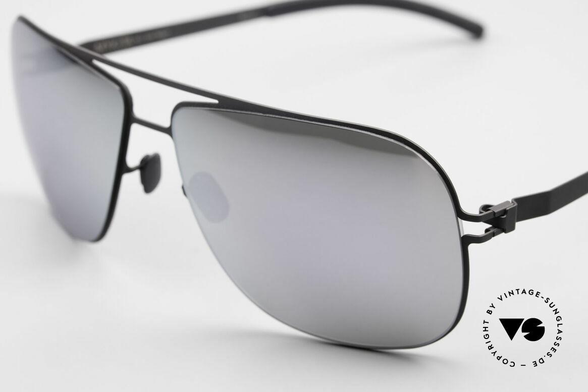 Mykita Rolf Promi Sonnenbrille Verspiegelt, innovativ flexible Metallfassung: eine Größe passt allen, Passend für Herren und Damen