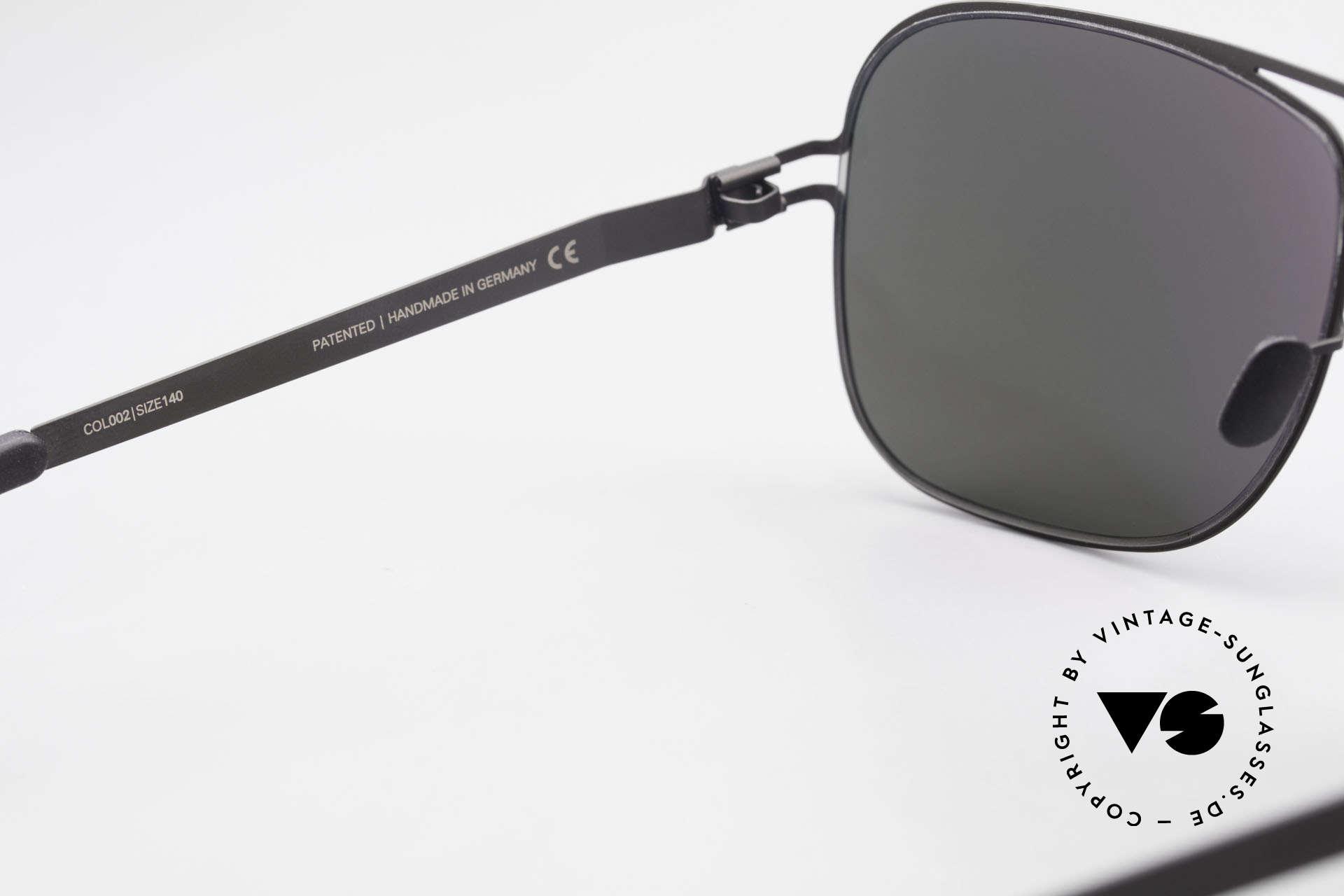 Mykita Rolf Promi Sonnenbrille Verspiegelt, getragen von Angelina Jolie (2011) und inzwischen selten, Passend für Herren und Damen