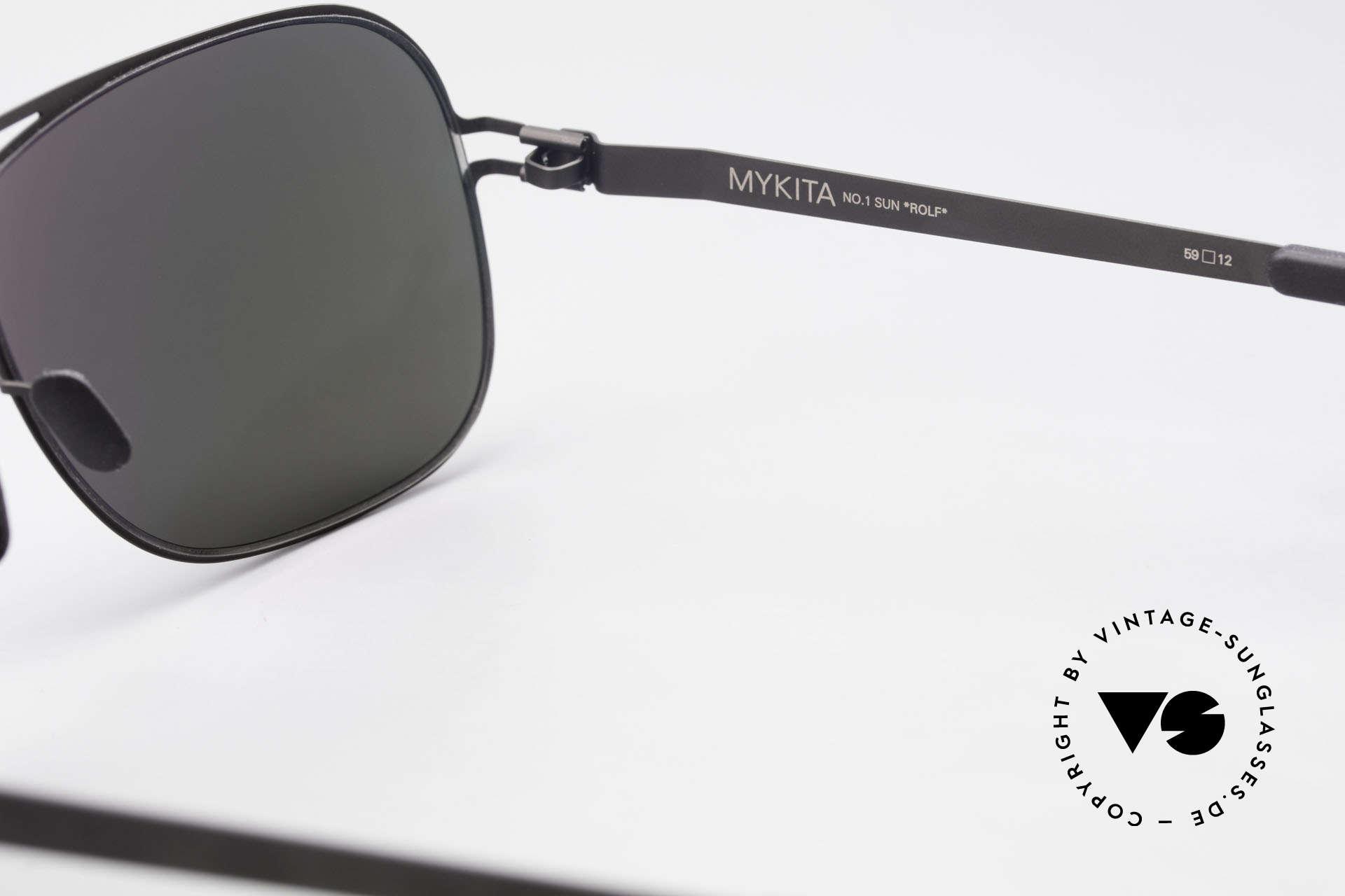 Mykita Rolf Promi Sonnenbrille Verspiegelt, ebenso von Prad Pitt, Jason Statham und Pierce Brosnan, Passend für Herren und Damen