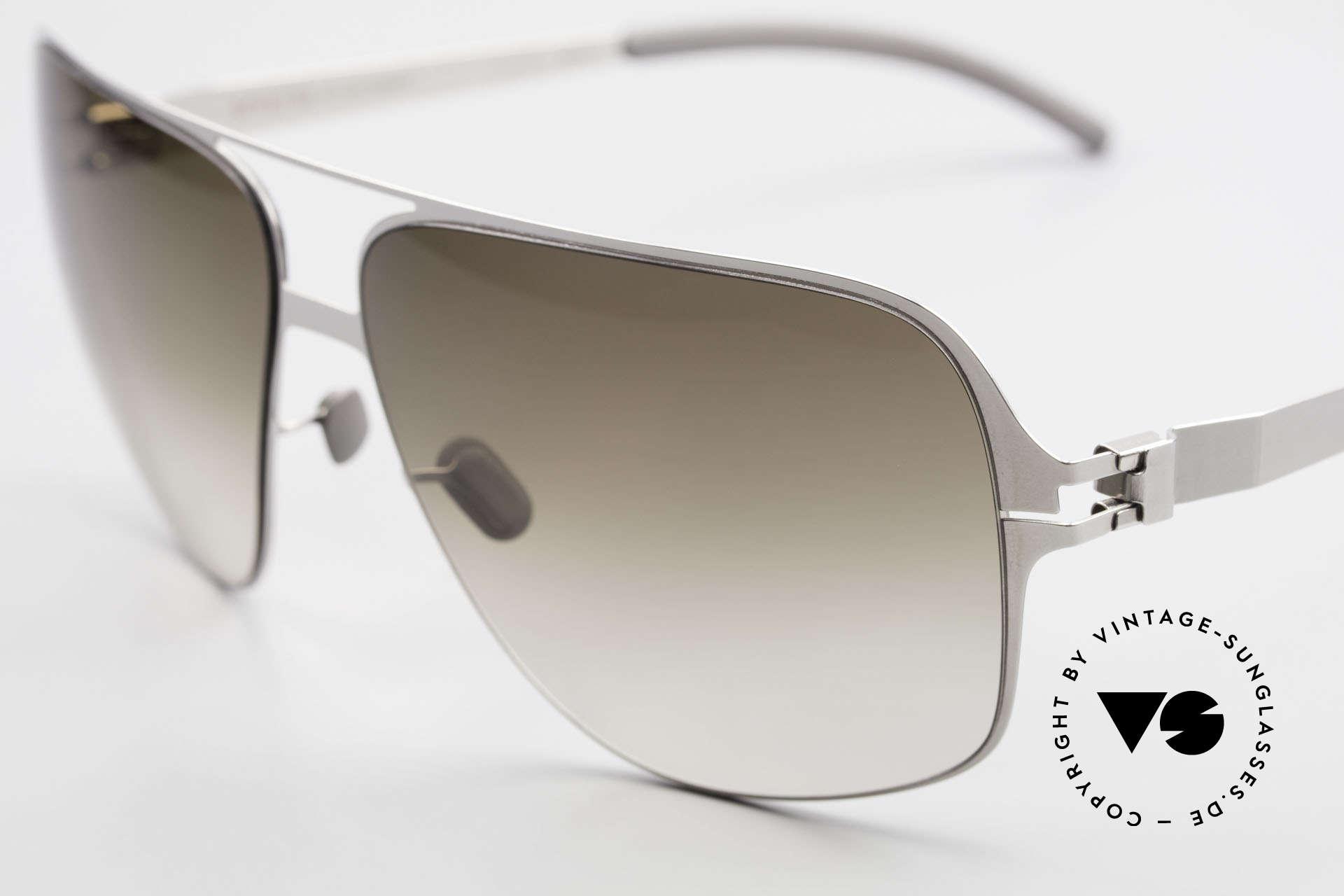 Mykita Cassius Lenny Kravitz Sonnenbrille XXL, innovativ flexible Metallfassung in XXL (150mm Breite), Passend für Herren