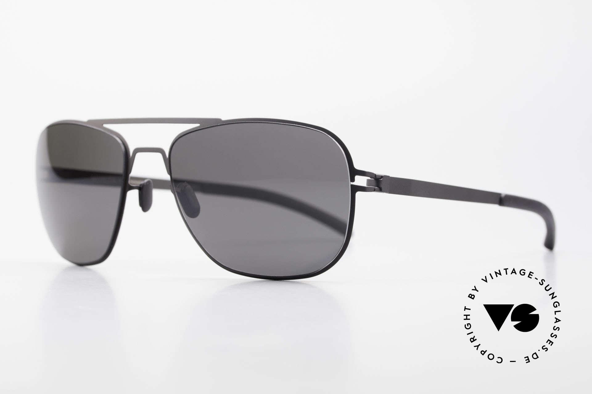 Mykita Howard Polarisierende Sonnenbrille, Model No.1 Sun Howard Black, black POLARIZED, 56/18, Passend für Herren und Damen