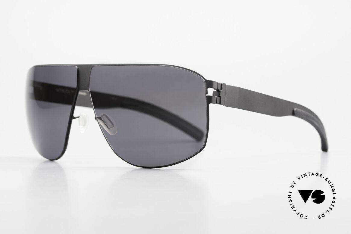 Mykita Terrence Vintage Mykita Sonnenbrille, Model No.1 Sun Terrence Black, black-solid, Gr. 66/08, Passend für Herren