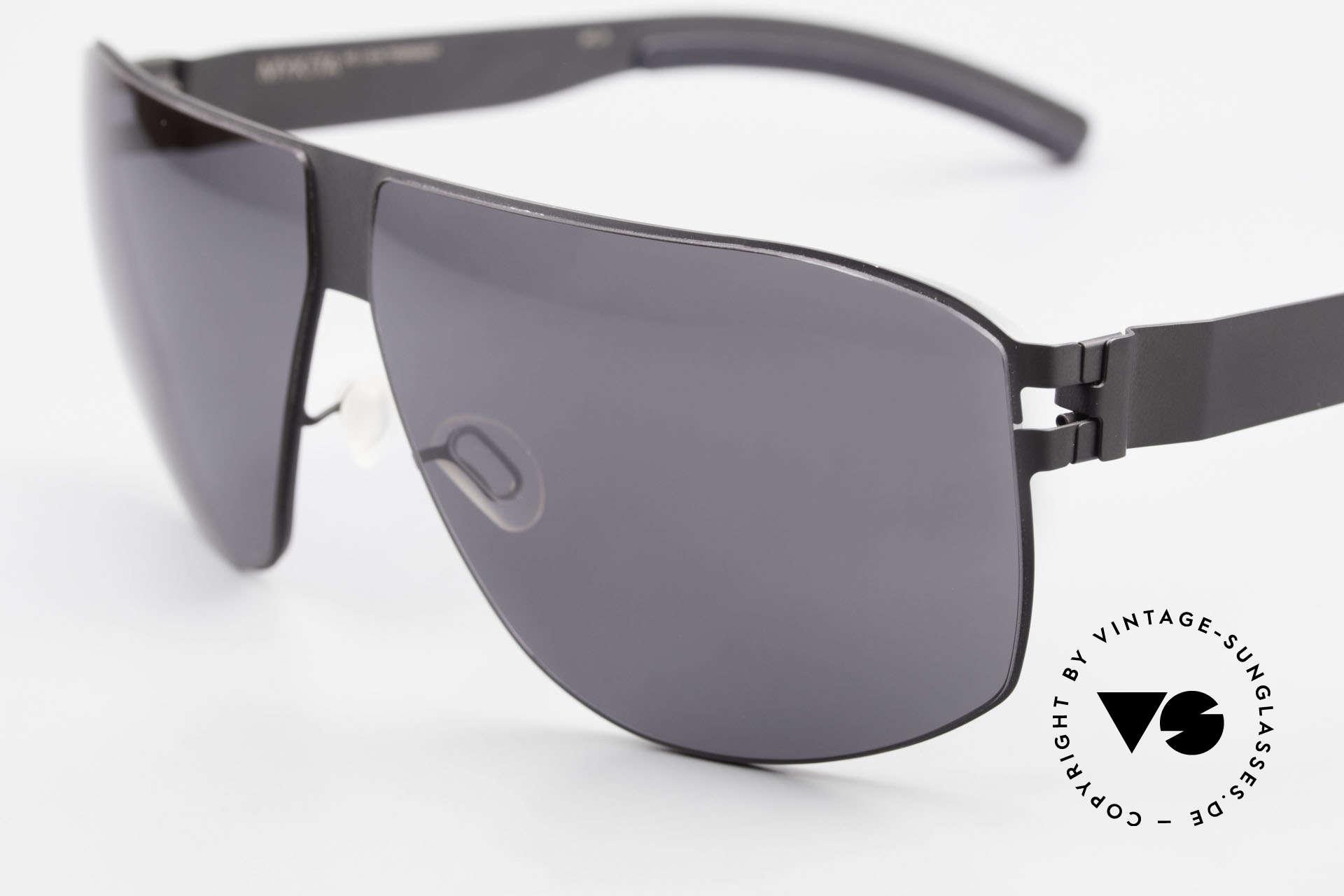 Mykita Terrence Vintage Mykita Sonnenbrille, innovativ flexible Metallfassung in Large bis XL Größe, Passend für Herren