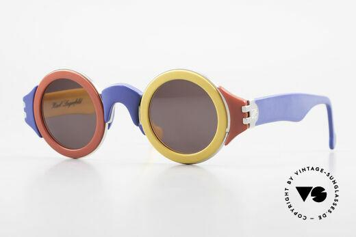 Karl Lagerfeld 3604 Bunte Runde 80er Brille Limited Details